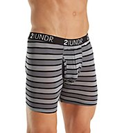 2UNDR Swing Shift Stretch 6 Inch Stripe Boxer Brief 2U01BB-S