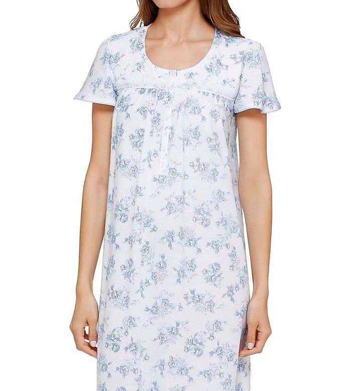 Aria Flowery Short Sleeve Short Nightgown 8014954