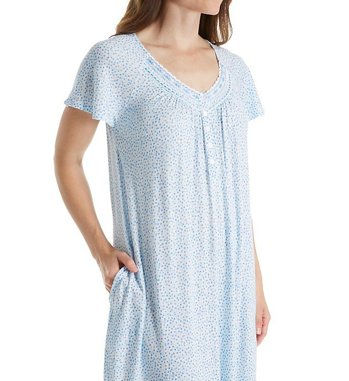 Aria Medallion Short Sleeve Short Nightgown 8017788