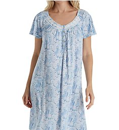 Aria Blue Charm Short Sleeve Short Nightgown 8017812