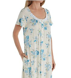 Aria Blue Afternoon Short Sleeve Short Nightgown 8017845