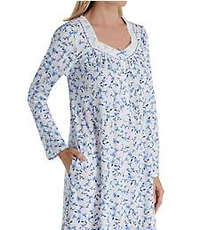 Aria Blue Sky Long Sleeve Short Nightgown 8017868