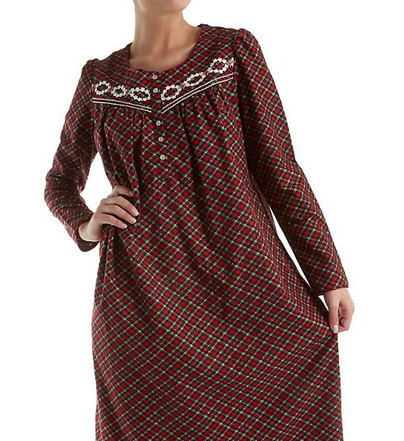 Aria Flannel Long Sleeve Ballet Nightgown 8217765