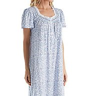 Aria Blue Floral Cotton Short Sleeve Ballet Nightgown 8217774