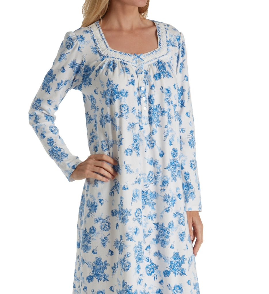 Aria Blue Serenity Long Sleeve Ballet Nightgown 8217810