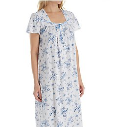 Aria Blue Print Short Sleeve Ballet Nightgown 8217837