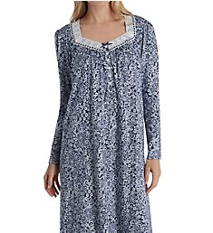 Aria Blue Sky Long Sleeve Long Ballet Nightgown 8217868