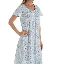 Aria Aqua Ditsy Short Sleeve Ballet Gown 8217892