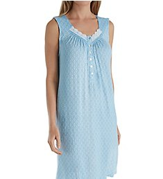 Aria Blue Afternoon Sleeveless Short Nightgown 8317845
