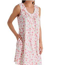 Aria Daisy Cotton Jersey Sleeveless Short Gown 8321930