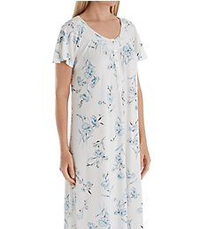 Aria Watercolor Short Sleeve Long Gown 8417869