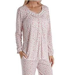 Aria Pink Dreams Cotton Long Sleeve Button Front PJ Set 8717887
