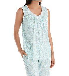 Aria Breeze Cotton Jersey Sleeveless Bermuda PJ Set 8821929