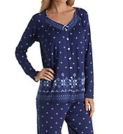 Aria Blue Serenity Long Sleeve PJ Set 8917810