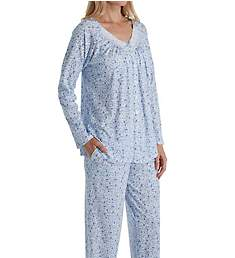 Aria Blue Sky Long Sleeve Long Pant PJ Set 8917868