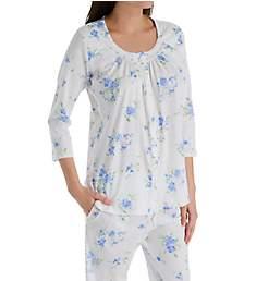 Aria Peri Spring 3/4 Sleeve Long Pant PJ Set 8921911