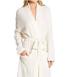 Arlotta Cashmere Long Baby Cable Texture Wrap Robe 2020