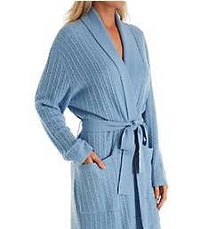 Arlotta Cashmere Short Baby Cable Texture Wrap Robe 2022