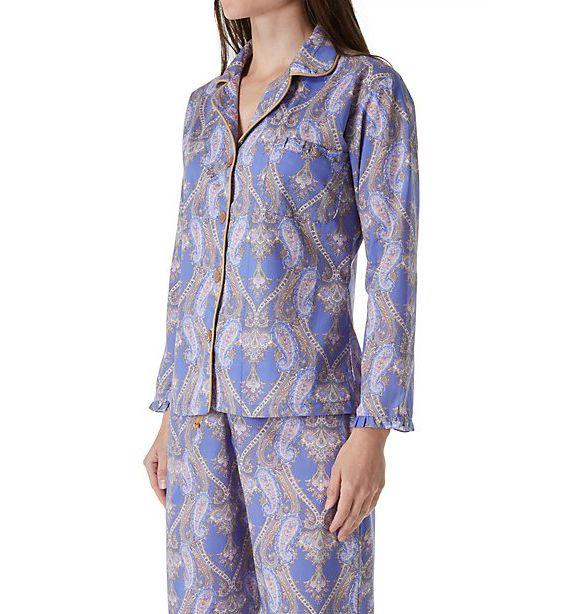 BedHead Pajamas Periwinkle Pashmina Paisley Pajama Set 6078