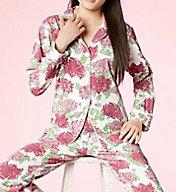 BedHead Pajamas Coral Mums Pajama Set 7232