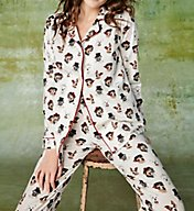 BedHead Pajamas Dignified Dogs Long Sleeve Pajama Set 7554