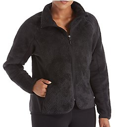 Champion Plus Size Lux Faux Fur Bonded Fleece Knit Jacket 1022FHB