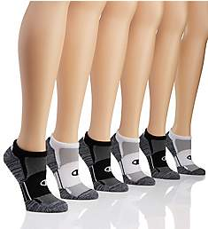 Champion Core Performance Double Dry No Show Socks - 6 Pair CH306