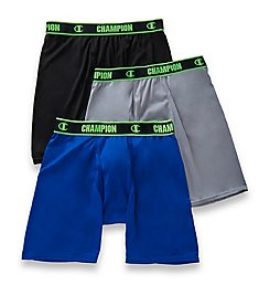 Champion Active Performance Long Boxer Briefs - 3 Pack CHAL