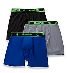 Champion Active Performance Boxer Briefs - 3 Pack CHAR