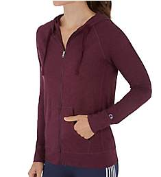 Champion Heathered Jersey Full Zip Hooded Jacket J4165