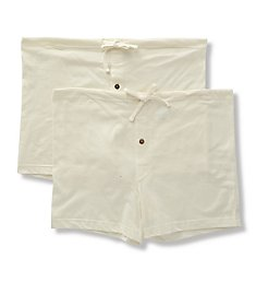 Cottonique Latex Free Organic Cotton Loose Boxers - 2 Pack M27713