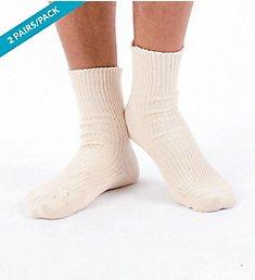 Cottonique Elite Elastic-Free Organic Cotton Socks - 2 Pack M27730