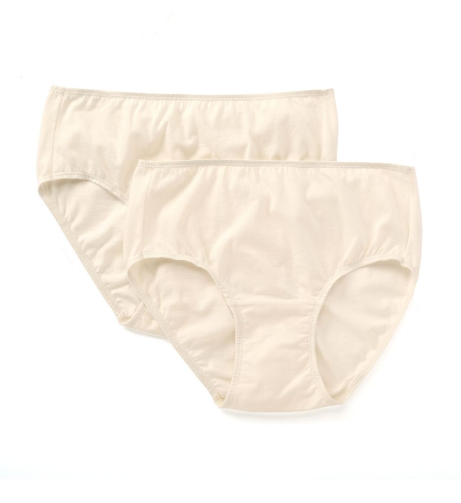 Cottonique Natural Organic Cotton Waist Brief - 2 Pack W22200C