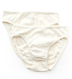 Cottonique Natural Organic Cotton High Cut Panty - 2 Pack W22207C