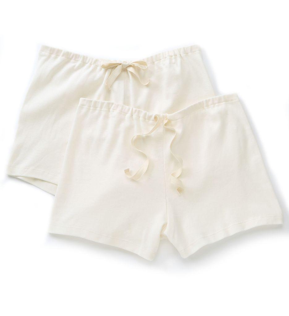Cottonique Natural Organic Cotton Boyleg Brief Panty - 2 Pack W22220N