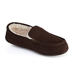 Dearfoams Suede Driver Moc Slipper with Memory Foam 80271