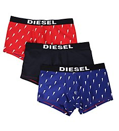 Diesel Shawn Lighting Bolt Print Trunks - 3 Pack SAB2BATE