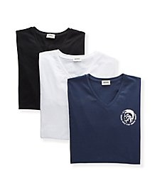 Diesel Michael Cotton Stretch V Neck T-Shirts - 3 Pack SHGUTANL