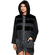 DKNY Between The Lines Hooded Fur Cozy 2013378
