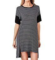 DKNY City Stripe Short Sleeve Sleepshirt 2019258