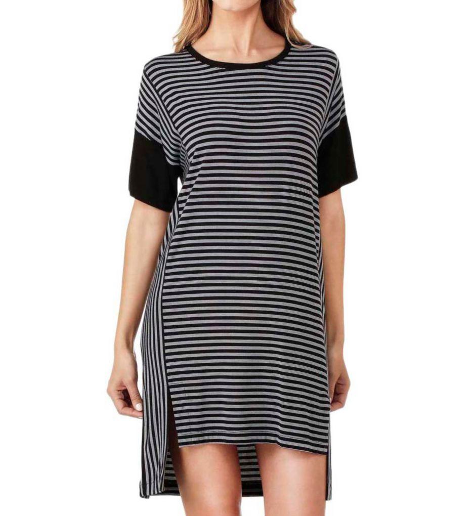 DKNY City Stripe Short Sleeve Sleepshirt 2019258