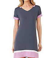 DKNY Color Blocked Short Sleeve Sleepshirt 2313409
