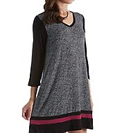 DKNY Urban Essentials 3/4 Sleeve V-Neck Sleepshirt 2313477