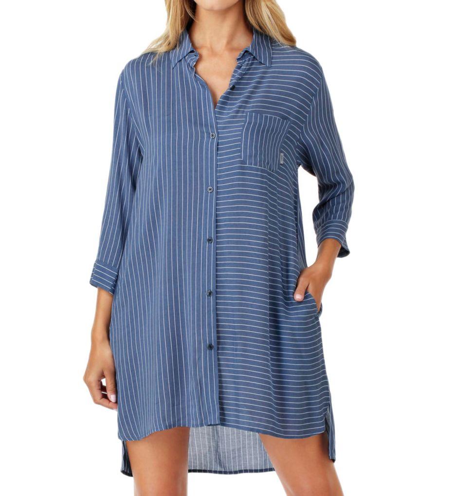 DKNY Blue Note 3/4 Sleeve Sleepshirt 2319232