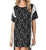 DKNY Lace Effects Short Sleeve Sleepshirt 2319234