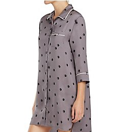 DKNY Modern Dream 3/4 Sleeve Button Front Sleepshirt 2319305