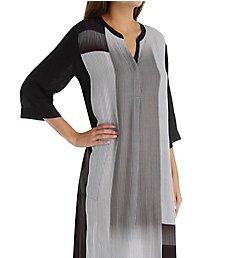 Donna Karan Sleepwear Black Stripe Maxi Sleepshirt D216924