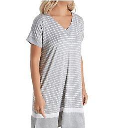Donna Karan Sleepwear Get in Line Short Sleeve Sleepshirt D236992