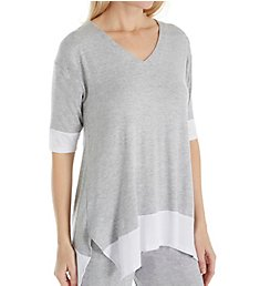 Donna Karan Sleepwear Waves 3/4 Sleeve Top D246911