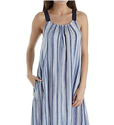 Donna Karan Sleepwear Peacoat Hi Low Chemise D266920